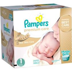 Premium Care - 164 Couches Pampers taille 1