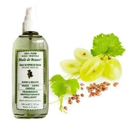 Huile de beauté aux pépins de raisin 100% végétale et pure sur Couches Poupon
