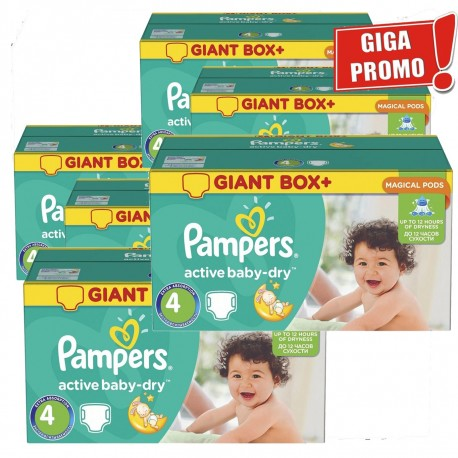 Active Baby Dry - 792 Couches Pampers taille 4 sur Couches Poupon