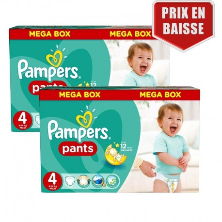 282 Couches Pampers Baby Dry Pants taille 4 sur Couches Poupon
