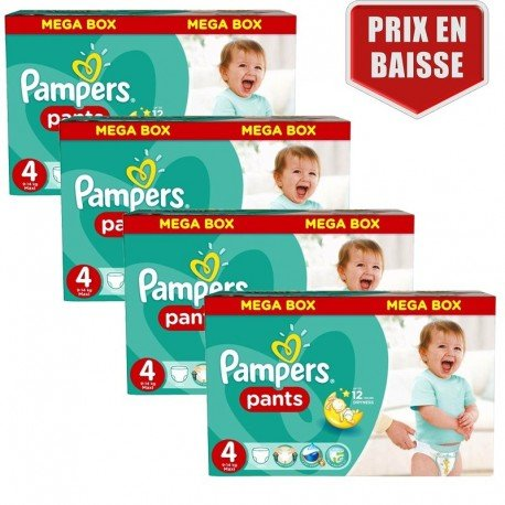 470 Couches Pampers Baby Dry Pants taille 4 sur Couches Poupon
