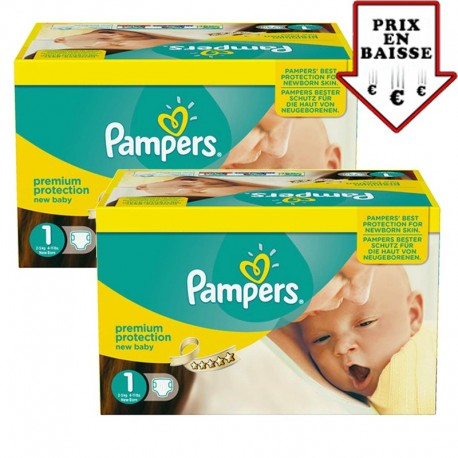Pampers - 345 Couches New Baby taille 1 sur Couches Poupon