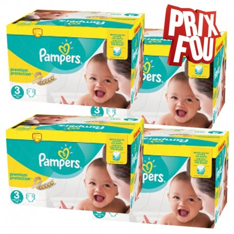 Pampers - Pack Jumeaux 650 Couches Premium Protection - New Baby taille 3 sur Couches Poupon
