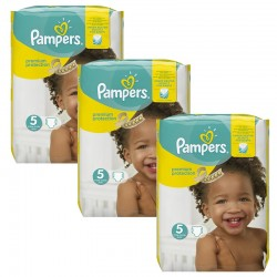 Pampers - Mega Pack 204 Couches New Baby Premium Protection taille 5 sur Couches Poupon