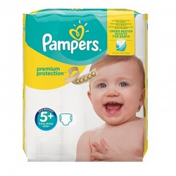 Pampers - Pack 32 Couches Premium Protection - New Baby taille 5+