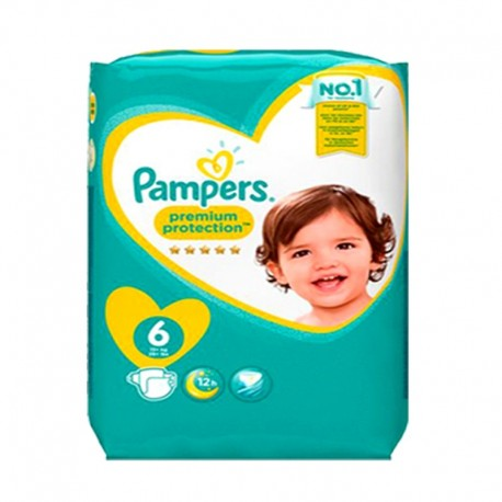 Pampers - Pack 31 Couches Premium Protection - New Baby taille 6 sur Couches Poupon