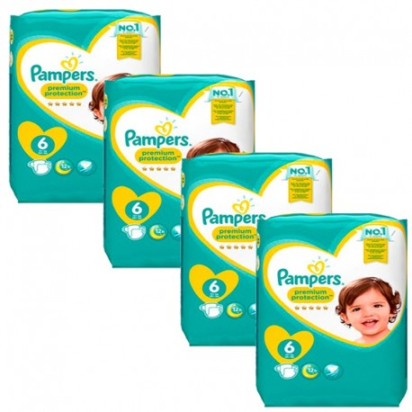 Pampers - Mega Pack 96 Couches Premium Protection - New Baby taille 6 sur Couches Poupon