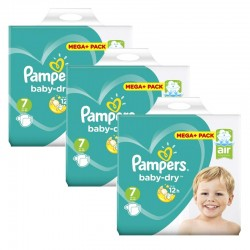 Pampers - Maxi Giga Pack 140 Couches Baby Dry taille 7 sur Couches Poupon