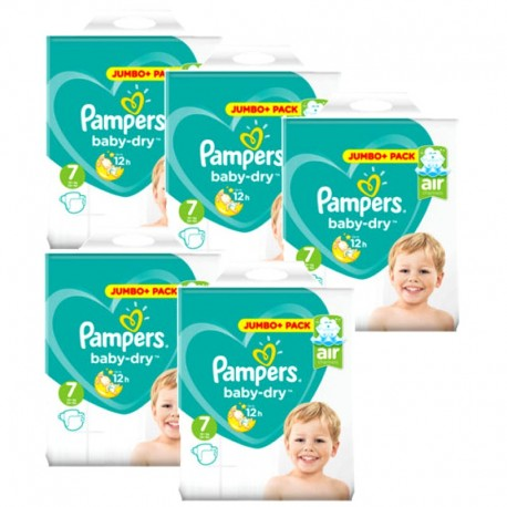 Pampers - Maxi Mega Pack 168 Couches Baby Dry taille 7 sur Couches Poupon