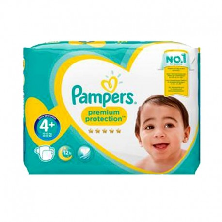 Pampers - Pack 62 Couches Premium Protection - New Baby taille 4+ sur Couches Poupon