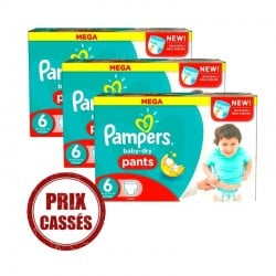 Pampers - Maxi Giga Pack 192 Couches Baby Dry Pants taille 6 sur Couches Poupon
