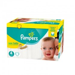 Pampers - Pack 64 Couches New Baby - Premium Protection taille 4 sur Couches Poupon