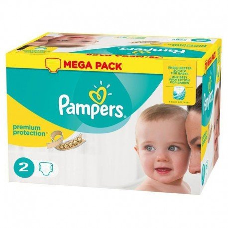 Pampers - Pack 240 Couches New Baby - Premium Protection taille 2 sur Couches Poupon