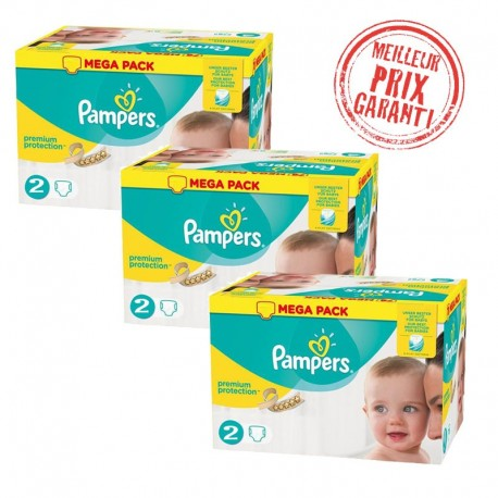 Pampers - Pack Jumeaux 720 Couches New Baby - Premium Protection taille 2 sur Couches Poupon