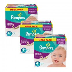 Pampers - Maxi Giga Pack 186 Couches Active Fit taille 4+ sur Couches Poupon