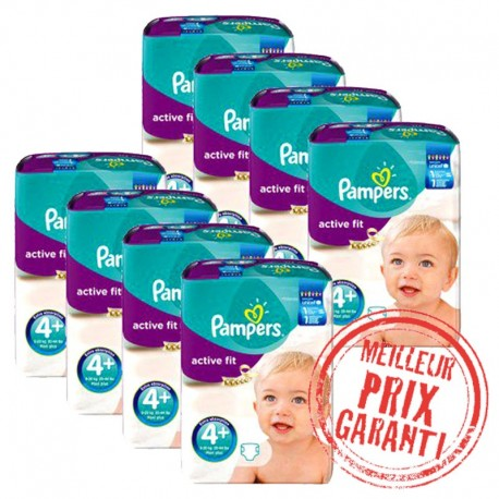 Pampers - Pack Jumeaux 620 Couches Active Fit taille 4+ sur Couches Poupon