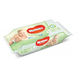 Huggies - Pack 56 Lingettes Bébés Natural Care sur Couches Poupon
