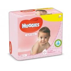 Huggies - 560 Lingettes Bébés Soft Skin sur Couches Poupon