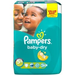 Pampers - Pack 28 Couches Baby Dry taille 5+