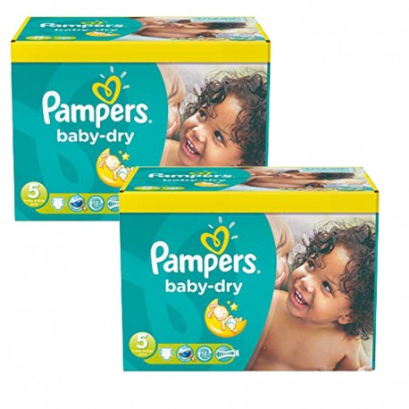 Giga Pack 175 Couches Pampers Baby Dry sur Couches Poupon