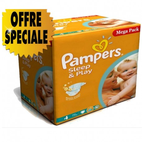 Pampers - Maxi Pack 432 Couches Sleep & Play taille 4 sur Couches Poupon