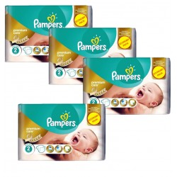 Pampers - Maxi Pack 266 Couches New Baby - Premium Care taille 2 sur Couches Poupon