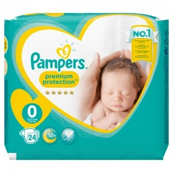 Pampers - Pack 24 Couches New Baby Premium Protection taille 0 sur Couches Poupon