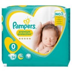 Pampers - Pack 24 Couches New Baby Premium Protection taille 0