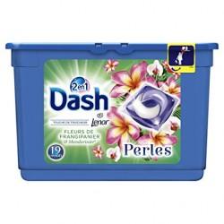 Dash Perles 19 Fleurs de Frangipaniers & Mandarinier 2en1 (501,6 gr) sur Couches Poupon