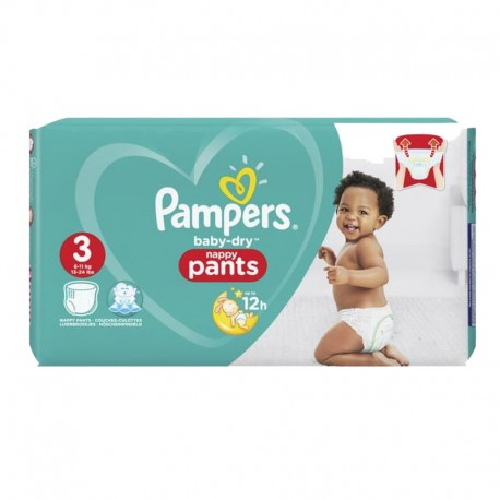 Pampers - Pack 80 Couches Baby Dry Pants taille 3 sur Couches Poupon