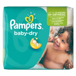 Pampers - Pack 25 Couches Baby Dry taille 5+