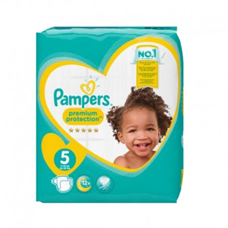 Pampers - Pack 60 Couches New Baby taille 5 sur Couches Poupon