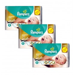 Pampers - Maxi Giga Pack 190 Couches New Baby - Premium Care taille 2 sur Couches Poupon