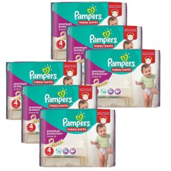 Maxi Giga Pack 224 couches Pampers Active Fit Pants sur Couches Poupon