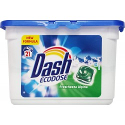 Dash Liq Tabs 21 Freschezza Alpina (583,3 gr) sur Couches Poupon
