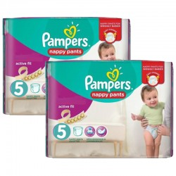 Pampers - Giga Pack 180 Couches Active Fit - Pants taille 5 sur Couches Poupon