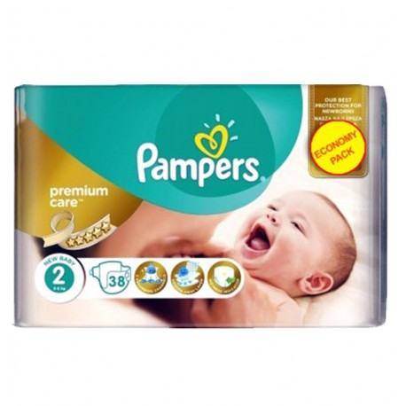 Pampers Pack 38 Couches New Baby Premium Care taille 2 sur Couches Poupon