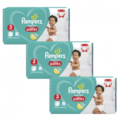 Pampers - Maxi Giga Pack 240 Couches Baby Dry Pants taille 3 sur Couches Poupon