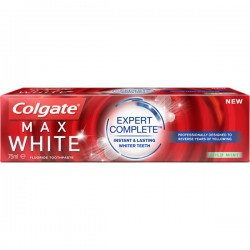 Colgate 75 ml Max White Expert Complete Mild Mint sur Couches Poupon