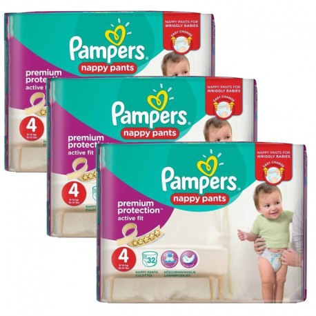 Pampers - Giga Pack 128 Couches Active Fit - Pants taille 4 sur Couches Poupon