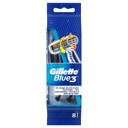 Gillette Blue3 Rasoirs Jetables 8 pc.Edition Football sur Couches Poupon