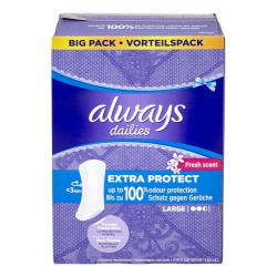 Always - 52 Protèges-Slips Extra Protect taille Large sur Couches Poupon