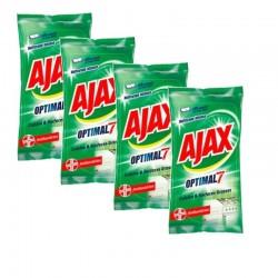Ajax Lingettes 200 Lingettes Optimal 7 Cuisine & Surfaces Grasses sur Couches Poupon