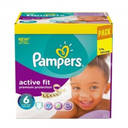 Pampers - Pack 120 Couches Active Fit - Premiun Protection taille 6 sur Couches Poupon