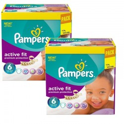 Pampers - Maxi Giga Pack 240 Couches Active Fit - Premiun Protection taille 6 sur Couches Poupon