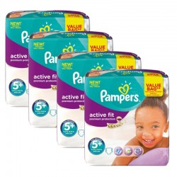 Giga Pack 128 Couches Pampers Active Fit Premium Protection sur Couches Poupon