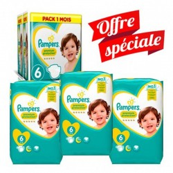 Pampers - Maxi Giga Pack 168 Couches New Baby - Premium Protection taille 6