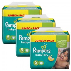 Pampers - Maxi Pack 144 Couches Baby Dry taille 5 sur Couches Poupon