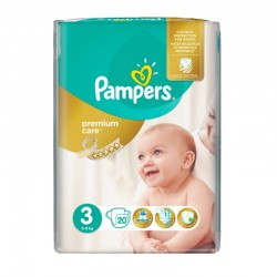 Pampers Pack 20 Couches Premium Care Prima taille 3 sur Couches Poupon