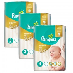 Pampers - Giga Pack 180 Couches Premium Care - Prima taille 3 sur Couches Poupon